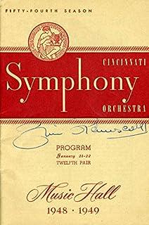 Zino Francescatti - Program Signed Circa 1949