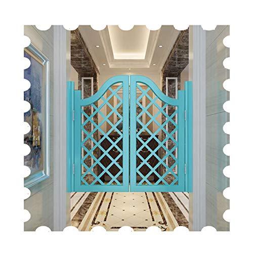 JIANFEI Cafe Puertas Contrapuertas, Madera Maciza Cuadrícula Puerta De La Cerca, Interior Ventilación Decoración Media Puerta Apagado Automático, Personalizable (Size : 85x90cm)