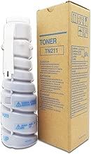 Cartucho de Toner Compatible para Konica Minolta TN211 Bizhub250 282 TN211 de tóner de Impresora, Negro para la Compañía Gobierno Local, aumentó la versión-Polvo importada,1black