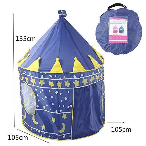 LAMPSJN Tiendas Infantiles Carpa de los niños del Juego de Yurt Casa del Juguete del bebé de Princesa Castle Cubierta Marina Ball Pool Tienda Portable de Juguete Tiendas de Tunel (Color : Blue)