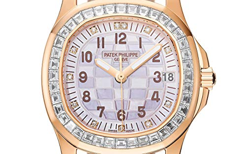 Patek Philippe Aquanaut Rose Gold 5072R-001 with Engraved Mother-of Pearl dial