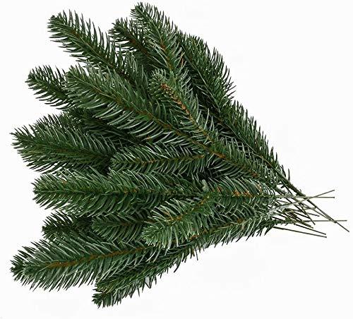 Kyrieval 30pcs Künstliche Kiefernzweige Grüne Blätter Nadelgirlande Grüne Pflanzen Kiefernnadeln für Weihnachten Verschönerung und Hausgarten