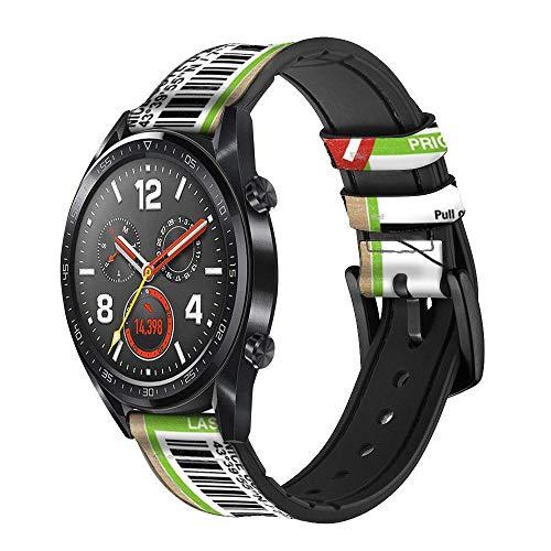 Innovedesire Luggage Tag Art Correa de Reloj Inteligente de Cuero y Silicona para Wristwatch Smartwatch Smart Watch Tamaño (20mm)