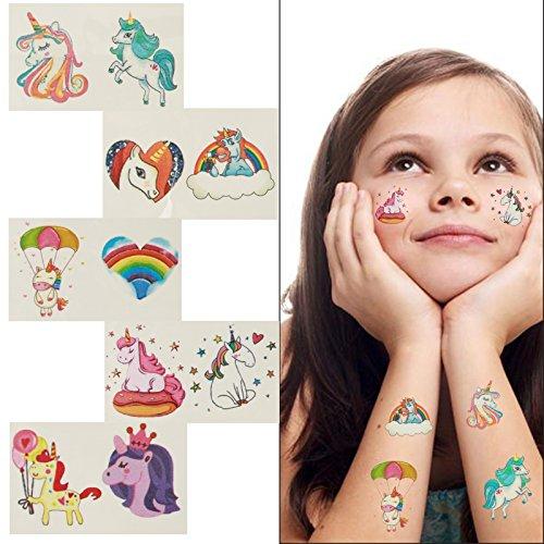 ZoomSky 180pcs Tatuajes Unicornio temporales de Tatuajes niñas de ...