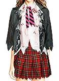 bslingerie Mujer Zombie colegiala Disfraz Set