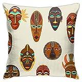 Funda de Almohada, Funda de Almohada Cuadrada étnica Africana Colorida Plana para el Tema del sofá del Coche Decoración del hogar y el Dormitorio Fundas de Almohada Funda de cojín de diseño