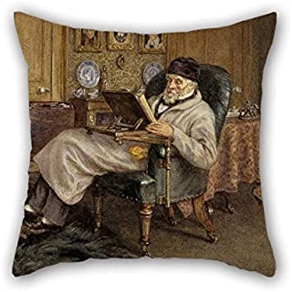 Cushion Cases Of Oil Painting Mrs Helen Allingham - Thomas Carlyle, 1795 - 1881. Historian And Essayist 18 X 18 Inches / 45 By 45 Cm Best Fit For Wife Deck Chair Gf Coffee House Indoor Husband Dou