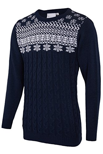 Players Maglione Natalizio Fair Isle Navy