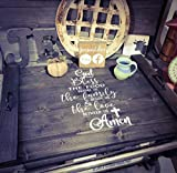 God Bless The Food Farmhouse Noodle Board - Choose Stove Top Oven Cover, Sink Cover, OR Serving Tray, Farmhouse Decor, Kitchen Storage, Asst Colors