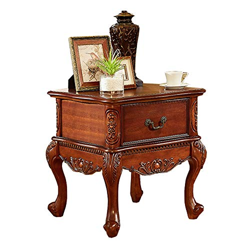 Bureau DD Side Table, woonkamer slaapkamer met een bank kabinet, houten tafel met lades -werkbank