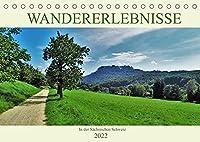 Wandererlebnisse in der Saechsischen Schweiz (Tischkalender 2022 DIN A5 quer): Die schoensten Wanderziele (Monatskalender, 14 Seiten )