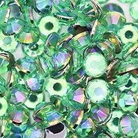 オーロラ AB アクリル ラインストーン 大容量セット デコ電 ネイル 4mm ライトグリーンAB