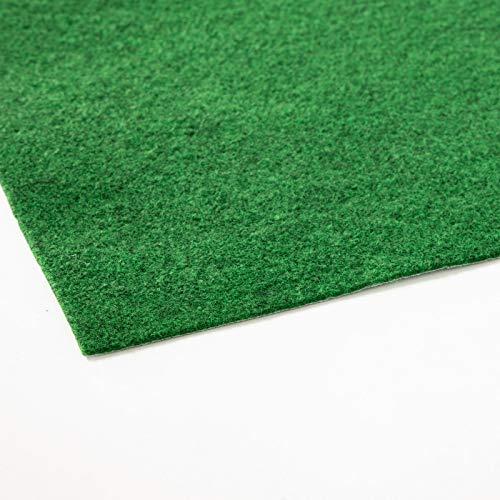 Rasenteppich Farbwunder Pro | Balkonteppich | Kunstrasenteppich für Terrasse, Balkon und Freizeit | Erhältlich in 7 Farben (50 x 50 cm, Hellgrün)