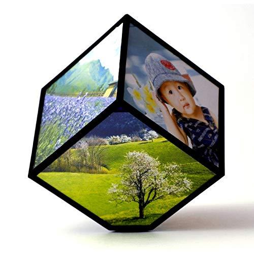 DECOMISORPRESA Cubo Fotos Giratorio con 6 FOTOGRAFIAS DE 10X10 CM