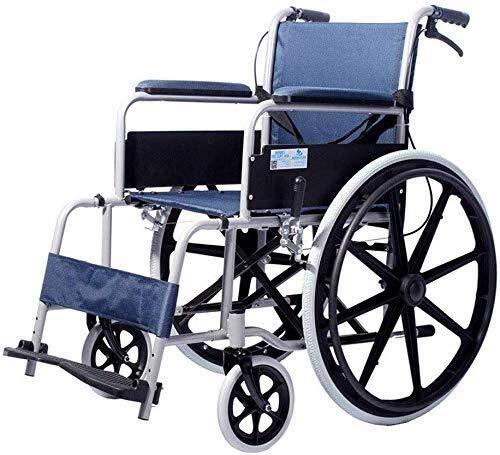 HYY-YY Silla de ruedas de aleación de aluminio, silla de ruedas plegable, portátil, con rotación del 360%, apto para personas mayores, discapacitadas (108 × 66 × 89,5 cm)