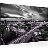 decoración de la mesa del muro de Berlín - 60 x 40 cm Vista de impresión en lienzo Salón Apartamento - listo para colgar - 004315c