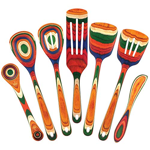 Baltique Marrakesh Collection 7 Piece Cooking Utensil Set, Safe for Nonstick