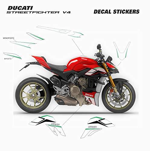 Vulturbike Aufkleber-Kit, personalisierbar, italienische Dreifarbe, Ducati Streetfighter V4 / V4S