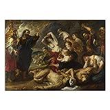 HJKLP Arte de la Lona Pintura al óleo Peter Paul Rubens La Serpiente de Bronce Obra de Arte barroca Pinturas Arte de la Pared Interior de la casa Decoracion estética 50x70cm sin Marco