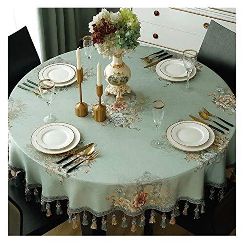 Tafelkleed, groen, groot, rond, tafelkleed thuis, voor eten, tafelkleed, laag, stof