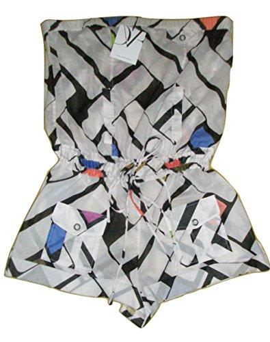 Diane von Furstenberg Tropical Maze Printed Cotton Beabea Coverup Romper L (Run Big)