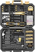DEKO 196 Piece Tool Set General Household Hand Tool Kit with Rip Claw Hammer,Lineman's Plier, Measure Tape Rule & Plastic Toolbox Storage Case…
