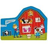 Puzzle madera granja Puzzle infantil de animales de granja de madera, New
