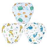 Leekalos One Size Adjustable Reusable Swim Diaper Boys & Girls, Swim Diapers for Baby Show...