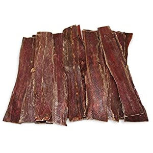 Best Pet Supplies GigaBite 12 Inch All Natural Beef Gullet Jerky Strips/Esophagus Taffy Dog Treat Pack of 20