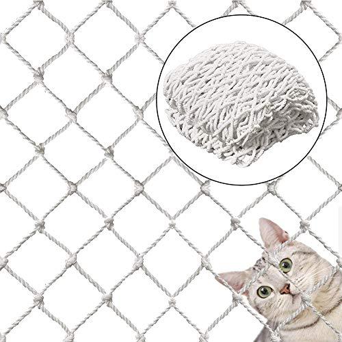 Rete di sicurezza per gatti, balcone, rete protettiva, protezione anti-caduta, per animali domestici e giocattoli, cassaforte per ringhiere in rete per balcone finestre scale (150 x 300 cm, 1 pz)
