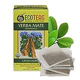 ECOTEAS Organic Unsmoked Yerba Mate Tea Bags - 24 Count, 1.7 Oz - Organic Detox Tea - Hi Caf Tea - Clean Yerba Mate Energy Burst - Ecoteas Yerba Mate
