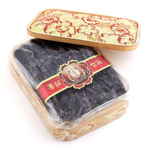 Korean Honey Red Ginseng Whole Roots, 900g(2lb) X 1 Box with Wrapping Cloth for Gift, Saponin, Panax