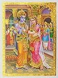 Imagen del santuario del dios hindú en relieve del Señor Rama Sita