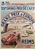 Unbekannt Grand Prix Reims 1959 Poster, Poster, Format 50 x