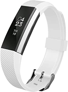 UMTELE Compatible with Fitbit Alta Bands, Soft Wristband with Metal Buckle Clasp Closure Replacement for Fitbit Alta/Alta HR/Fitbit Ace …