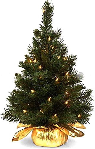 Árbol Navidad con Luces Incluye Árbol Navidad Mesa Luces LED Multicolores para Navidad Decoración Primavera Boda Pascua Uso en Interiores y Exteriores 2 Piezas 1123 (Color: B)