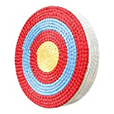 Swatlo 20-inch Archery Target Traditional Hand-Made Round Straw Archery Target for Backyard Shooting and Archery Practise (5 Layers Red)