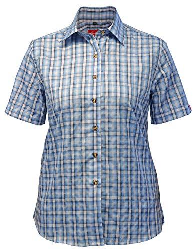 Fifty Five Damen Bluse Wanderbluse Lori hellblau 42 Kurzarm Funktions Shirt Atmungsaktiv