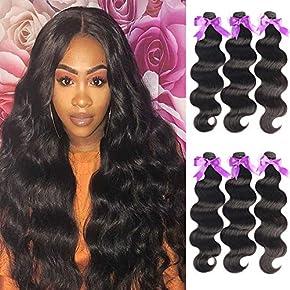 Beaudiva Hair 8A Brazilian Virgin Hair 3 Bundles with Closure Brazilian Hair Weave 100% Unprocessed Brazilian Human Hair With Free Part Lace Closure…