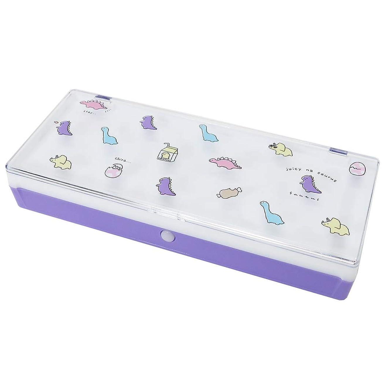 六第味わう筆箱[ジューシーなMIX]プラコレ ペンケース/サウルス 恐竜 カミオジャパン 文具 かわいい グッズ 通販