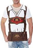 Funny World Men's Bavarian Oktoberfest Costume T-Shirts, 2X-Large, Brown