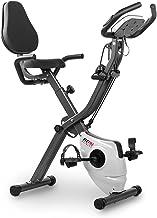 Fitfiu Fitness BEST-320 hometrainer, inklapbaar, met verstelbare rugleuning en elastische touwen, hartslagmeter en vliegwi...