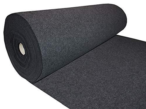 Filz Dunkelgrau Filzstoff 50x150cm Meterware 3,0mm Stark - soft