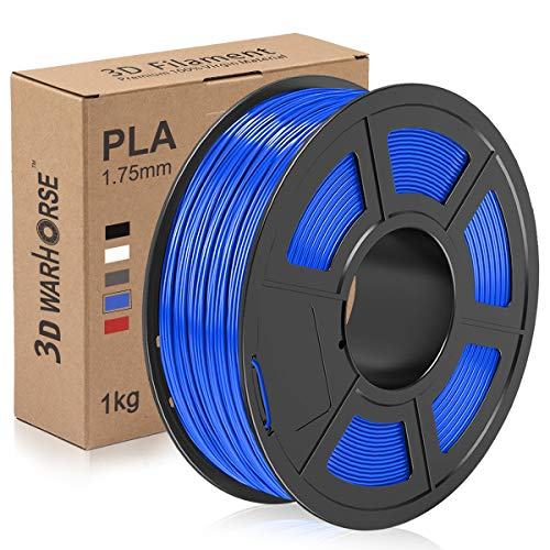 PLA Filament, 1.75mm 3D Printer Filament, Upgrade 2020 PLA 3D Printing 1KG Spool, Dimensional Accuracy +/- 0.02mm, Blue