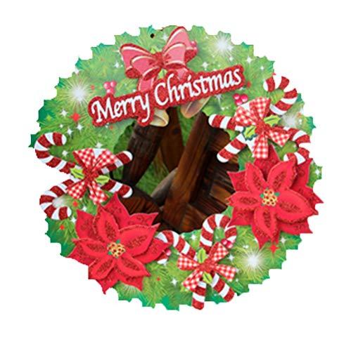 GYH Guirlande de Noël - Sticker Décoration de Noël Artificielle 3D Guirlande de Papier Décoration Porte Fenêtre Décoration Murale /& (Couleur : A)