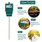 """Gouevn Soil Moisture Meter, Plant Moisture Meter Indoor & Outdoor, Hygrometer Moisture Sensor Soil Test Kit Plant Water… 14 🌼 SIMPLE and EFFECTIVE: Gouevn Soil moisture meter only for testing soil moisture, basic model works stably. Plug and read, responds quickly and provides easily readout. Large dial, ten scales. Includes watering guide for 200 plants printed on the back of the packaging. 🌼 INDOOR & OUTDOOR USE: A super helpful tool for your garden, Yard, lawn, Farm, potted plants etc. Especially is important for some delicate plants which are very sensitive to over or under watering. 🌼 LONG PROBE SENSOR: 7.7"""" probe length specifically designed for measure water at the root level, For use on any plant, even it is big potted plants."""