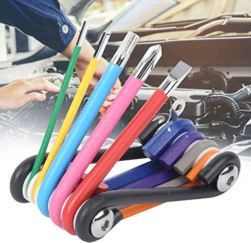 Inbusschlüsselsatz mit griff, Inbusschlüssel set fahrrad multitool, Reparaturwerkzeug Mini-Schraubenschlüsselsatz 9-in-1-Schraubendreher-Kit Autoreparatur Werksbetrieb