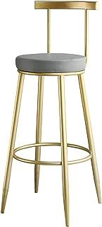 Fashion Wrought Iron Metal Bracket Bar Stool Kitchen Breakfast Stool Chair Cushion Design (Sitting Height: 45/65/75 cm)