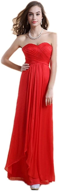 Dearta Women's ALine Sweetheart Sleeveless FloorLength Bridesmaid Dresses