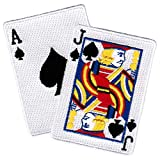 Blackjack Iron-On Patch Embroidered Ace Jack of Spades Las Vegas Playing Cards